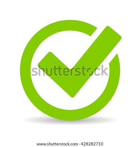 green tick checkbox vector