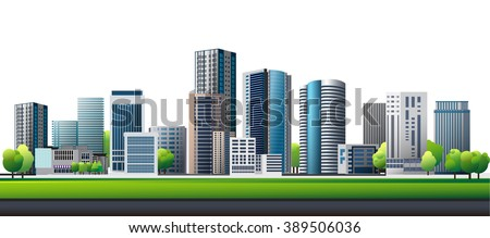 green town design vector of