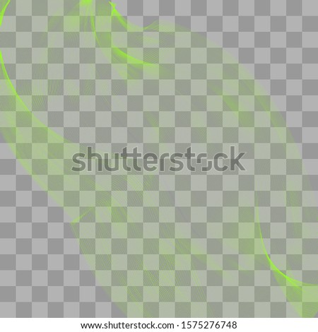 Green transparent haze curtain soaring on a transparency grid.