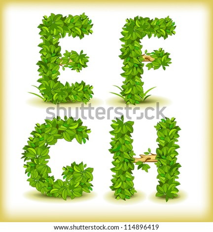 green tree alphabet font