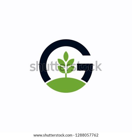 Green tree letter G Logo design inspiration - vector Zdjęcia stock ©