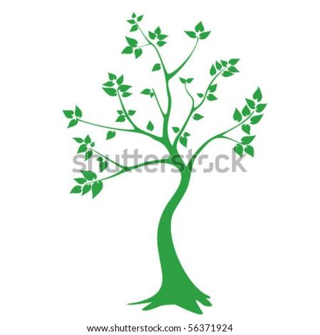 green tree - vector graphics