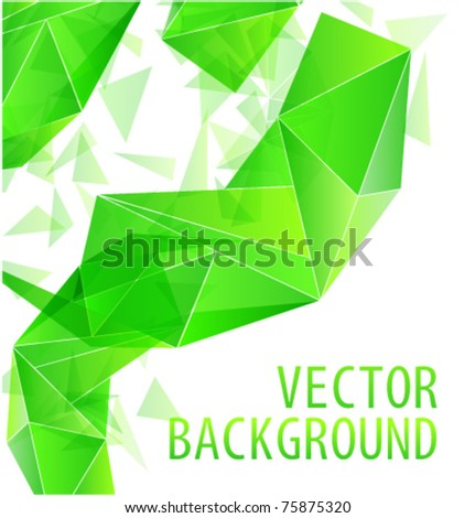 Green triangle abstract vector background