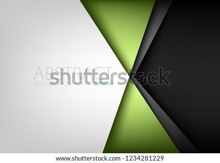 stock-vector-green-triangle-geometric-vector-background-with-white-and-black-space-for-background-design