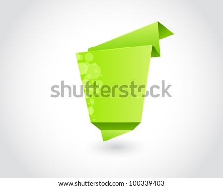green triangle square design elements. eps 10