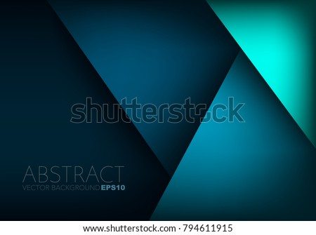 stock-vector-green-turquoise-and-blue-background-vector-overlap-layer-on-dark-space-for-background-design