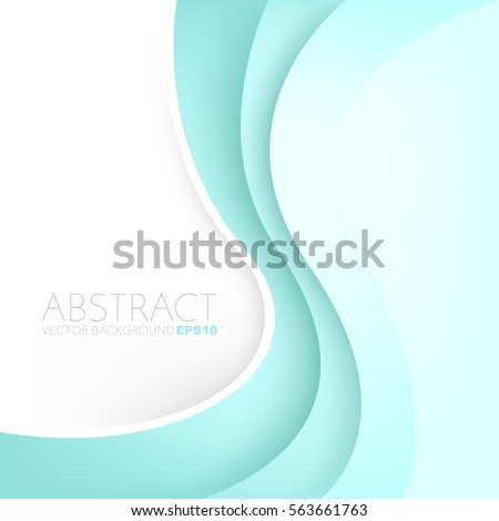 Green turquoise curve line vector background with white space for add text and artwork background design