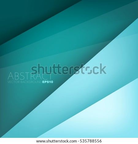 Green turquoise layer background paper overlap with space for artwork design , Vector