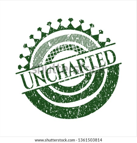 green uncharted distress rubber