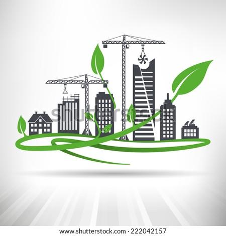 green urban development concept