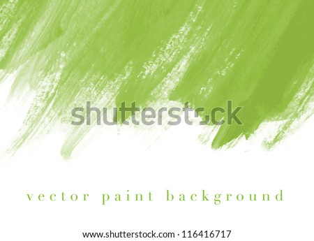 green vector abstract hand