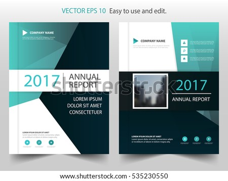 creative minimal cover page or brochure flyer design template