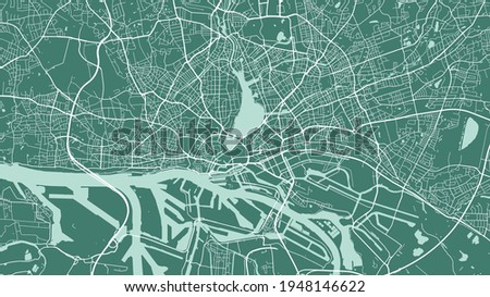 green vector background map