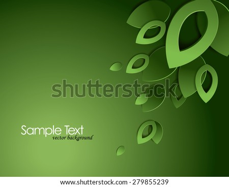 green vector background with 3d