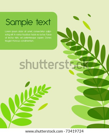 Green Vector background with fern leafs