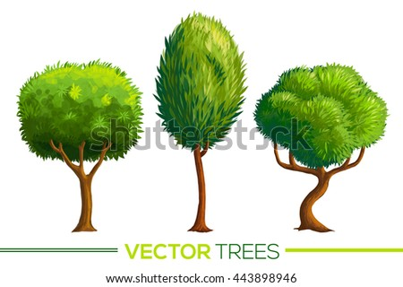 green vector cartoon style