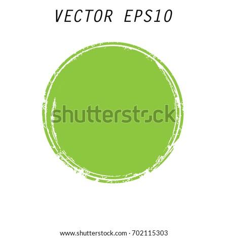 green vector  circle brush