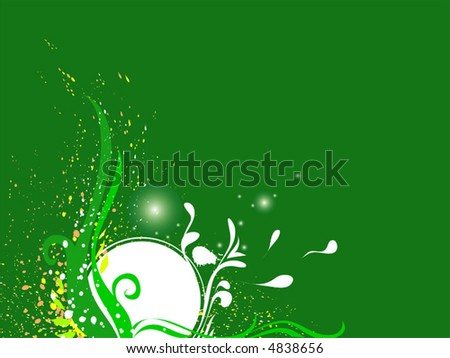 "Green vector image. Wonderful image for designers. For download all my pattern - search ""ozerina""  - stock vector"
