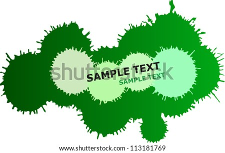 Green vector ink drops