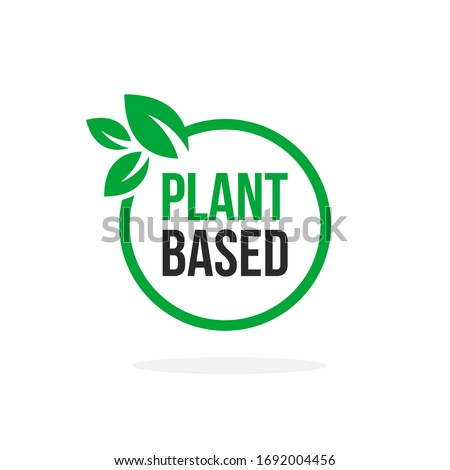Green Vector Plant Based Icon. Illustration of Round Plant With Leafs. Foto stock ©