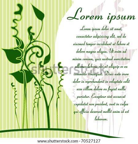 green vector plant with text