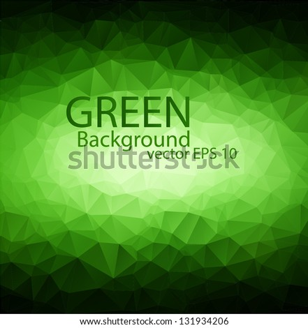 Green vector polygon background