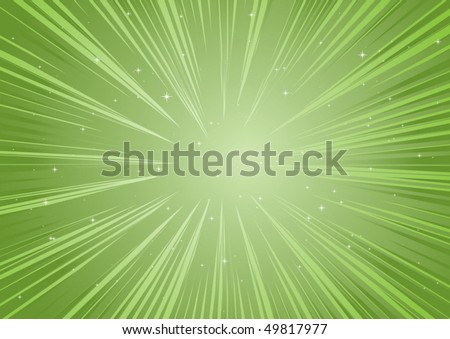 Green vector rays and stars