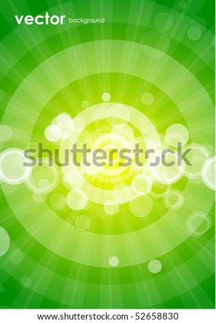 Green vector shiny background