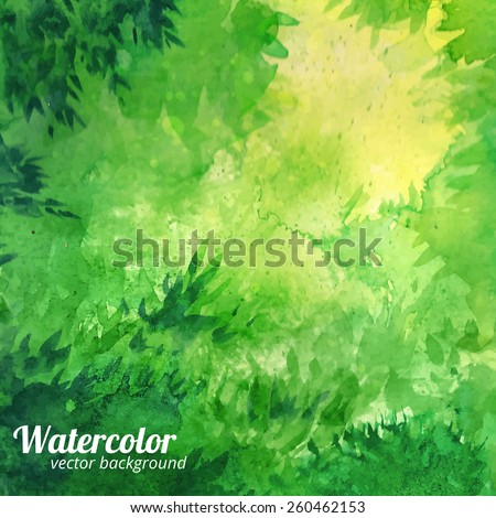 green vector watercolor