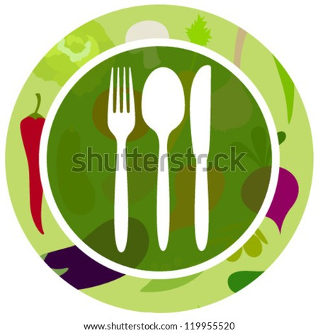 green vegetables food icon