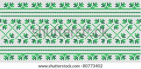 Green vegetative ornament in the Ukrainian style