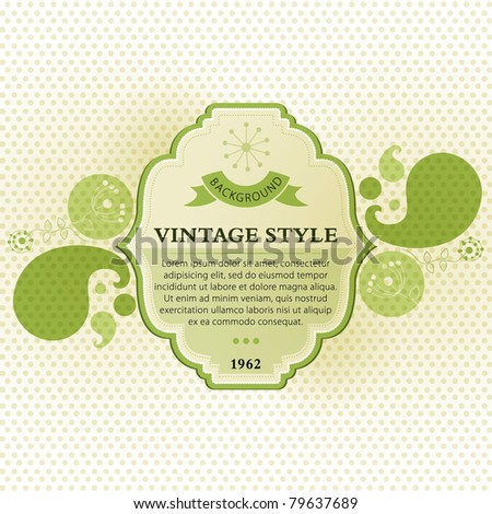 Green vintage banner template