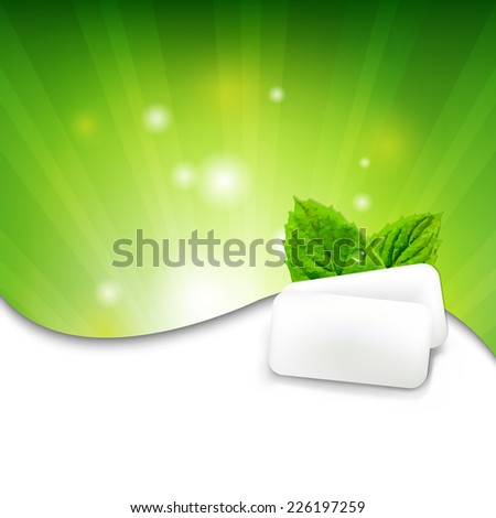 green wall with mint gum with