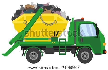Green Waste Skip Truck