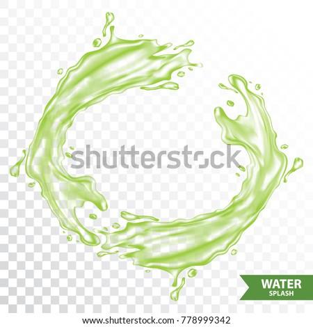 green water   juice splash