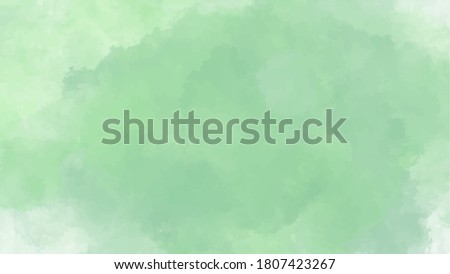 green watercolor background for