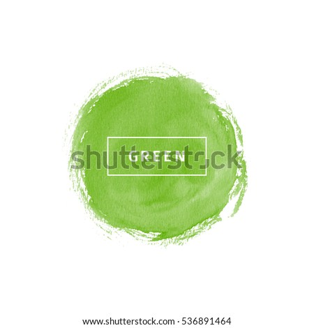 Green watercolor circle