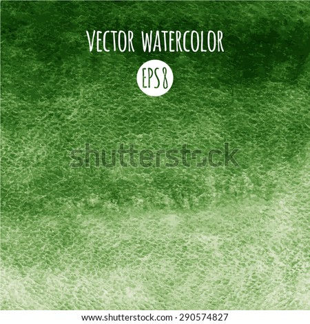 green watercolor vector