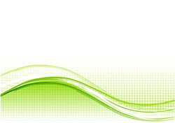 Green wave background with lines