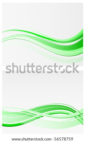 green waves vector backgrounds