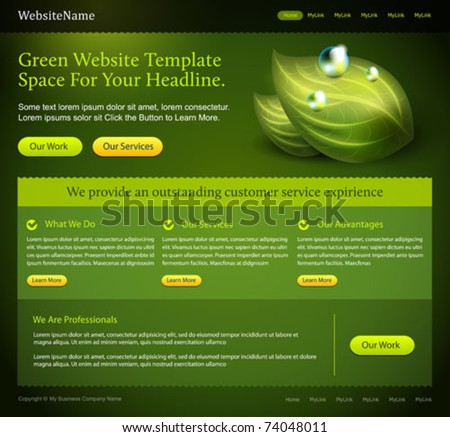 green website editable template