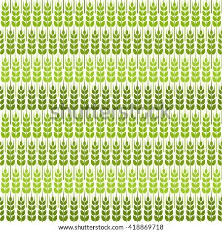 green wheat seamless pattern