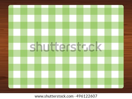 green   white gingham check