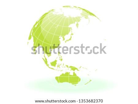 green white spherical earth