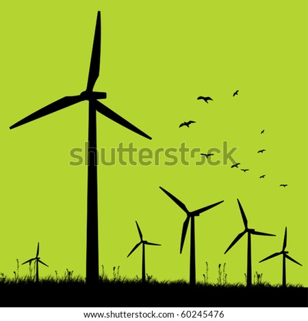 green windmills
