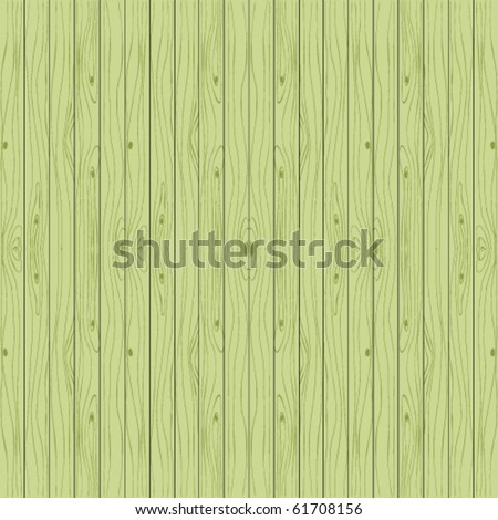 Green wooden background. Vector seamless boards.