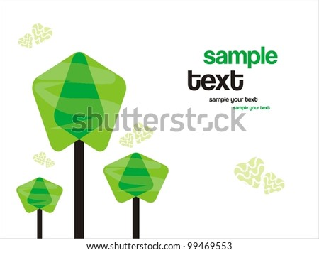 Green world. abstract background - stock vector