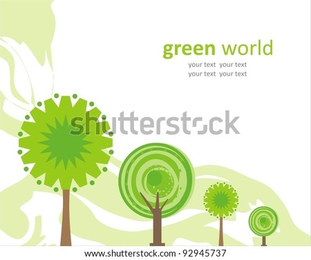 Green world. Vector background