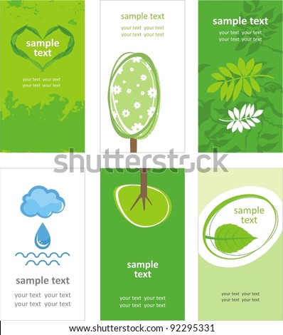 Green world. Vector card
