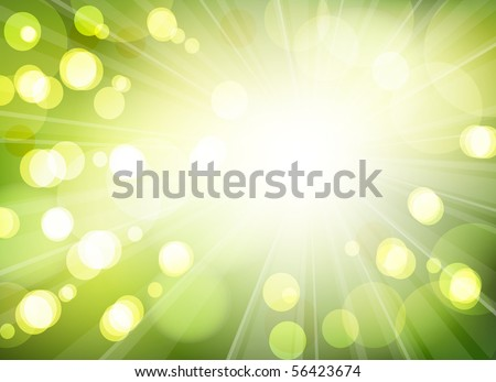 Green yellow background with bokeh effect